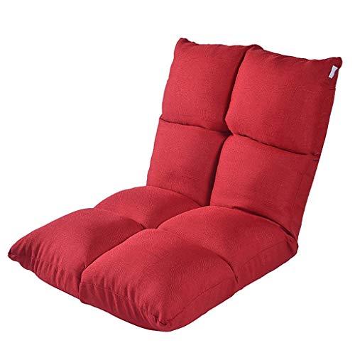 Lazy Couch Tatami Faltbarer Einzelbett-Rückenlehne Balkon Erkerfenster Klappkissenstuhl (Farbe: Rot)