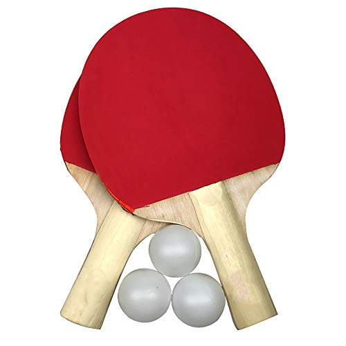 Cheapest Price! SDAKVDNS Table Tennis Cover, Portable Table Tennis Racket, Training Racket Double-Si...