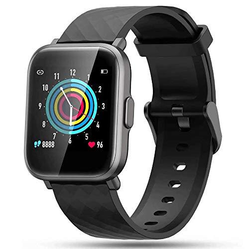 LIDOFIGO Smartwatch,Herren Fitnessuhr Touchscreen Fitness Armband Pulsuhr IP68 Wasserdicht Sportuhr Fitness Tracker mit Stoppuhr Schlafmonitor Kompass Schrittzähler Uhr Damen Smartwatch Android iOS