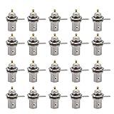 ASHATA BNC conectores de mamparo hembra, 20 conectores BNC hembra, accesorio para monitor de montaje en panel de chasis