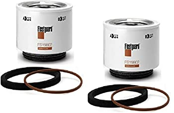 FS19802 Fleetguard Fuel Water Sep  Pack of 2  Replaces Luber Finer LFF8678 Racor R12T 10 Microns S3240 Series 120A 140R