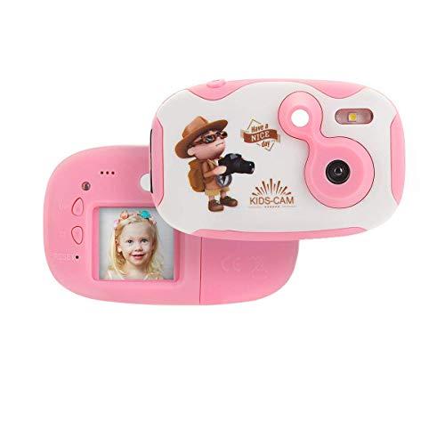 SHENGY kinderen creatieve lichte digitale camera Anti-Beat zachte siliconen hoes meertalig HD-scherm voor kinderen jongens meisjes cadeaus, roze