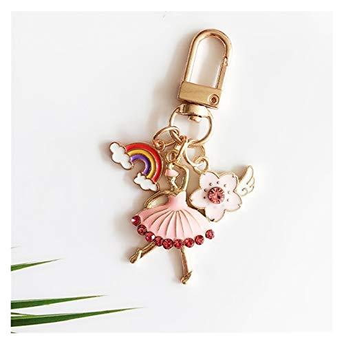 Goqiwep Llavero Metálicas Ballet Estilo de Unicornio Astronauta del Astronauta Llavero Llavero Accesorios Funda Protectora del Bolso de la Cubierta Llaveros (Color : 001, Size : 6 cm)