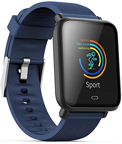 Smart Bracelet 1.3 inch Heart Rate Monitor Blood Pressure Fitness Tracker IP67 Waterproof Sport Smart Watch-Blue