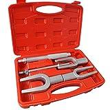 Topolenashop Kit 5 Pezzi estrattore Separatori a forca forche per Giunti sferici e bielle