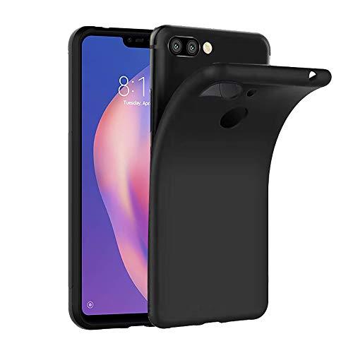Ferilinso Cover per Xiaomi Mi 8 Lite, CustodiaCase Ultra Slim Custodia Protettiva in Silicone Resistente ai Graffi Custodia alla Copertura in Gomma TPU per Xiaomi Mi 8 Lite(Negro)