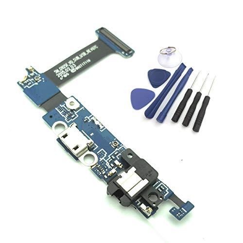 Presa compatibile con Samsung Galaxy S6 EDGE dock connector G925F compresi Micro USB, Flex Cavo con Microfono, Jack audio e Home Button Contatto