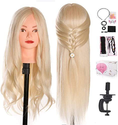 Cabeza de peluquería TwoWin 24 pulgadas de largo, maniquí de pelo de...