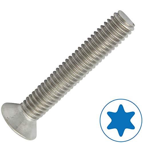 D2D | VPE: 20 Stück - Senkschrauben Größe M3 x 6 mm mit Vollgewinde und TX - ISO 14581 / DIN 965 aus Edelstahl A2 V2A - Senkkopfschrauben