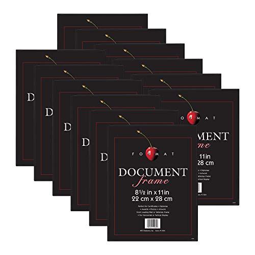 MCS Format Frame, 8.5 x 11 in, Black, 12 Count