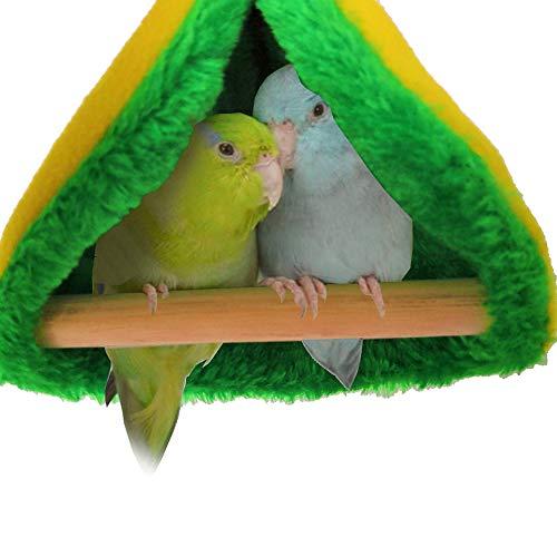 POTATO 鳥籠小鳥ベッド三角ハンギング ハンモック三角ベッド 暖かい巣 小さなオウムのハンモック小動物ベッド鳥たちの寝床 ハウス(小鳥テント)