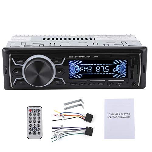Fydun Car Stereo Receptor 12V 1 Din Car Stereo USB Carga rápida Manos libres Multifunción Car Radio FM Reproductor de audio Bluetooth con retroiluminación de 7 colores