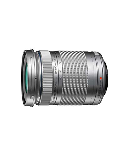 Olympus M.Zuiko Objectif Digital ED 40-150mm F4-5.6 II, zoom téléphoto, compatible tout appareil photo Micro 4 3 (modèles Olympus OM-D & PEN, Panasonic série G), Argent