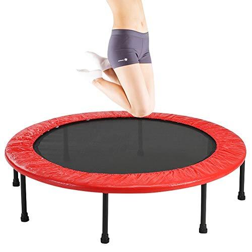 JXJJD Folding Trampoline Outdoor, Fitness Trampoline for Adult Kids Indoor/Outdoor Home Gym Equipment - Ø 101cm - Max Weight 120kg