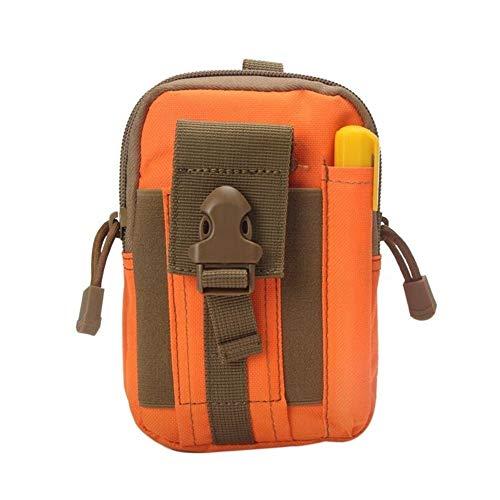 Bolsa portátil de bolsillo táctico al aire libre del teléfono móvil Bolsa de cintura uso del cinturón de Ejecución de múltiples funciones de la bolsa for que acampa yendo de pesca Capacidad Plegable B