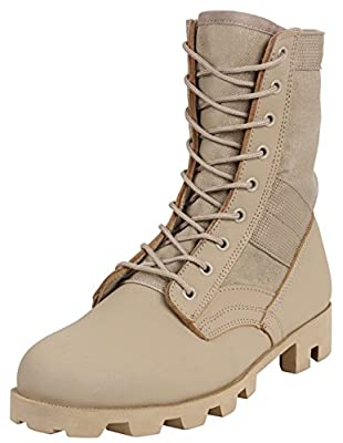 Rothco Military Jungle Boots, 10, Desert Tan