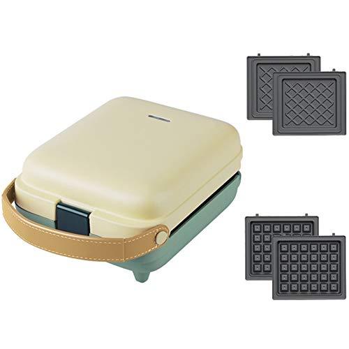 Gofrera Eléctrico 2 En 1 Sandwichera Waffle Maker DIY Multifunción Grill Sartén...