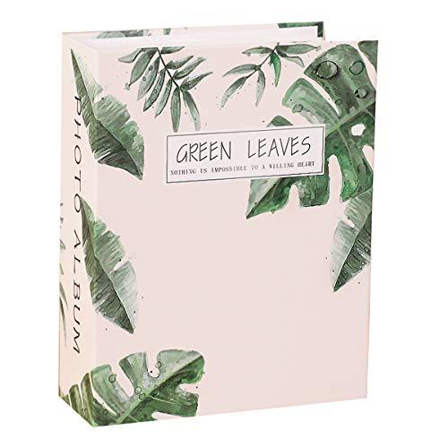 Jinshen Álbum de fotos con 200 bolsillos, 5 pulgadas, con hojas verdes,...