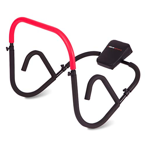 Ultrasport AB Trainer, aparato abdominal profesional para entrenar en casa con intensidad los músculos abdominales, plegable y por lo tanto fácil de guardar ahorrando espacio después del entrenamiento