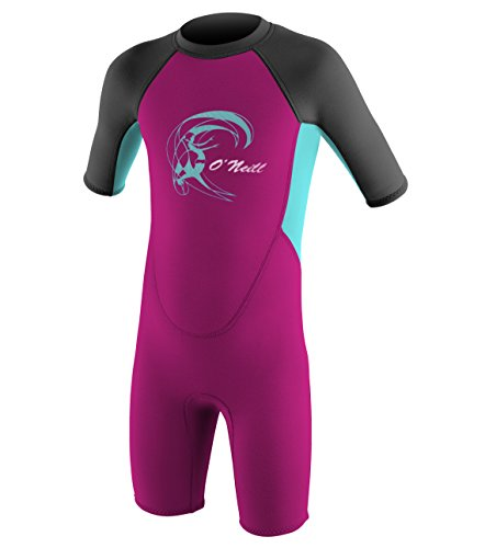 O'Neill Wetsuits Kinder Toddler Reactor Spring Neoprenanzug, Berry/Ltaqua/Graph, 3 Jahre