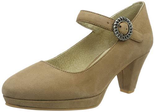 Stockerpoint Damen Schuh 6006 Riemchenpumps, Beige (Sand), 37 EU
