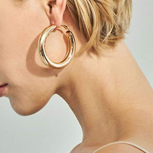 TseenYi Punk Kreis Ohrringe Gold Dicke Creolen Ohrringe Personalisieren Minimalistische Ohrringe Schmuck für Frauen und Mädchen