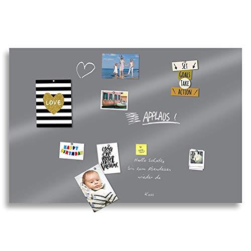 Magnetische Tafel Folie Farbe: Grau |Preis-Leistung Top - 20 Größen | beschreibbar, abwischbar, magnetisch | Kreide-Tafel - Magnetwand Memoboard Rahmenlos - für Hoch- und Querformat (70x50cm)