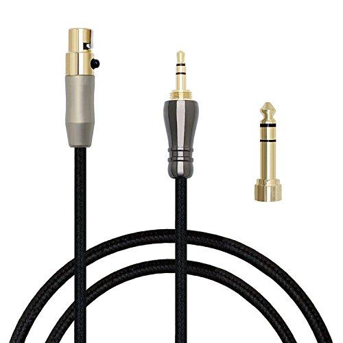 PCCITY Q701 K702 K271S K271 K141 K171 K181 MKII K240S K240 MK2 Pioneer HDJ-2000 対応用 ヘッドホンケーブル リケーブル ミニXLR-3.5mm (1.2M)