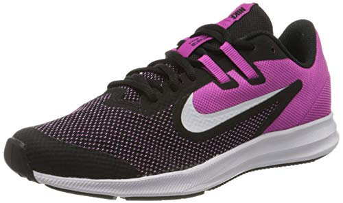 Nike Unisex-Child Downshifter 9 (GS) Running Shoe, Blac...