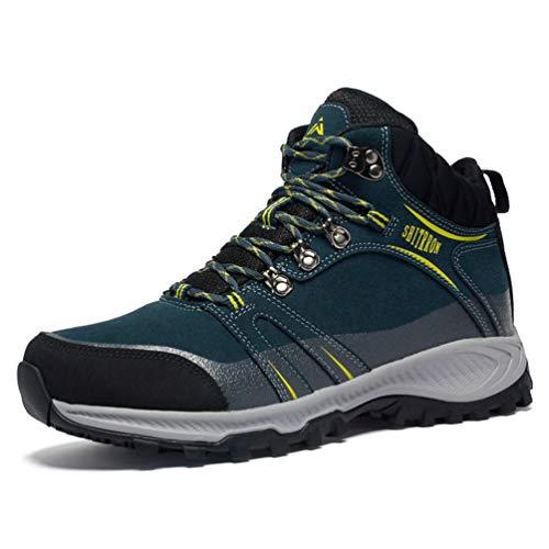 Qianliuk Herren Damen Wanderschuhe Outdoor Herren Anti-Rutsch-Breathable Blau 42 EU Mountain Schuhe Trekking Schuhe für Paare