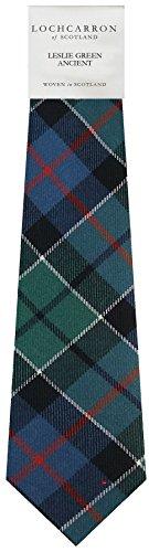 I Luv Ltd Gents Neck Tie Leslie Green Ancient Tartan Lightweight Scottish Clan Tie