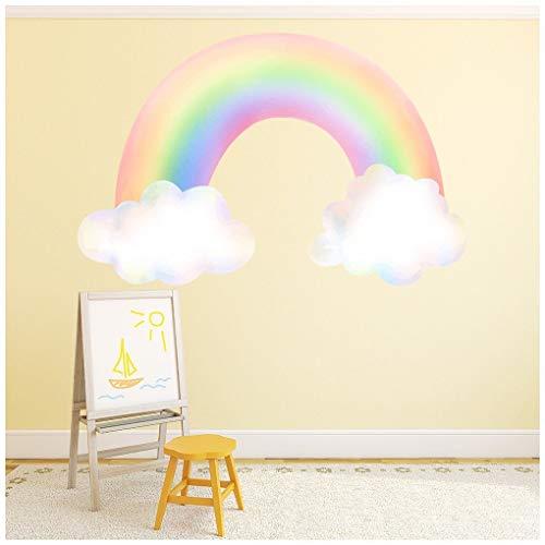 azutura Regenbogen & Wolken Kindergarten Wandtattoo in 8 Größen erhältlich Digital