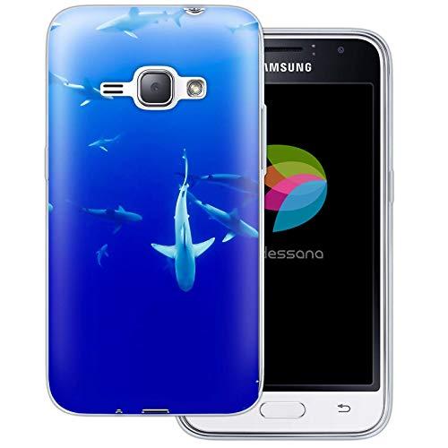 dessana - Cover protettiva per Samsung Galaxy J1 (2016), motivo: 'Under Water World', colore: Trasparente