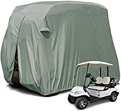 【2020 Upgraded】 2 Passenger Outdoor Golf Cart Cover for EZ GO, Club Car, Yamaha, Movaland Custom Cart Cover with 300D Material + Extra PVC Coating Waterproof Dust Prevention (Grey)