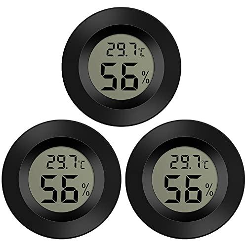 Thlevel 3X Mini LCD Digital Thermometer Temperatur Luftfeuchtigkeit Tester Hygrometer für Kühlschrank Aquarium -50°C~+70°C (3 PCS B)