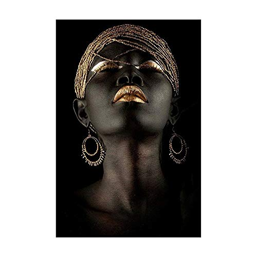 Modern Family Afrikanische Frau Kunst-Wanddekoration Poster Familie Wohnzimmer Bild senden Freund-Geschenk (E)