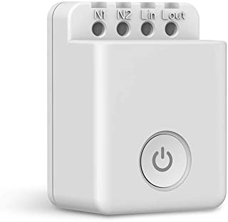 Broadlink SCB2 Smart Switch Wi-Fi Timer Outlet with Energy Monitor, Works with Alexa, Google Assistant & IFTTT, No Hub Req...
