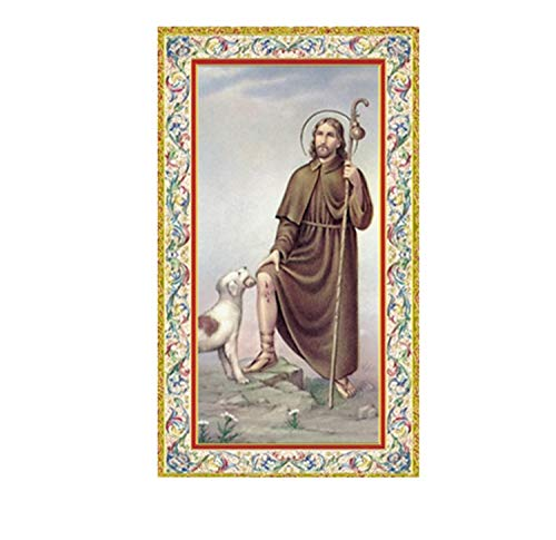 Gifts by Lulee, LLC Saint Roch Rocco Patron of Those with Communicable Conditions Laminated Holy Card