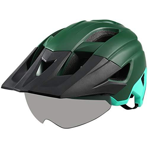 Lixada Casco de Bicicleta de Montaña Ultraligero Ajustable con Visera Desmontable Gafas...