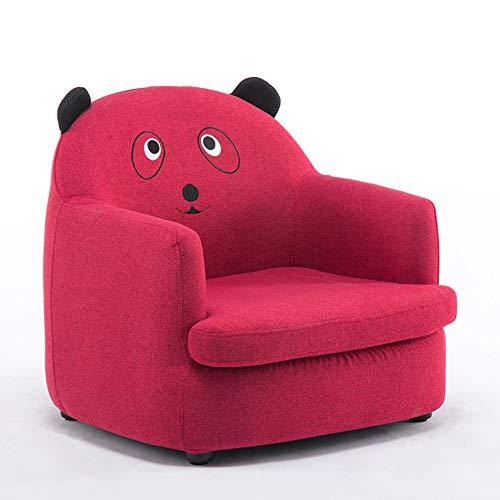 HAKN Canapé pour enfant, siège de dessin animé Baby Lazy Sofa [modèles de vêtements amovibles et lavables] (Couleur : Red, taille : Bear)