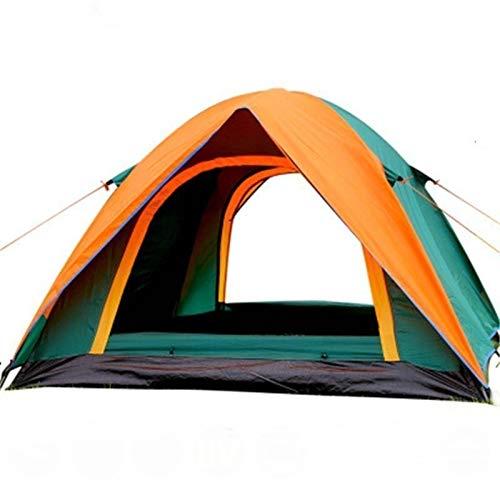 N-B Tienda de campaña para 3 – 4 personas, resistente al viento, doble impermeable y a prueba de rayos UV, tienda de campaña turística de pesca, senderismo, viaje a la playa 4 estaciones