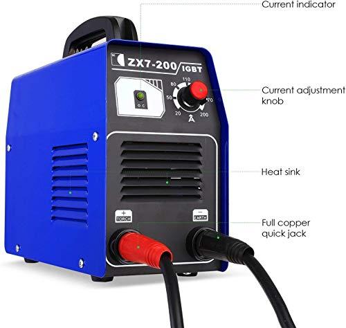 FIXKIT Soldador Inverter, Electrodo de Corriente Continua con Tecnología iGBT Máquina de Soldadora Portátil, Soldador Eléctrico Doméstico, Potencia Austable (220 V, 20-120A)