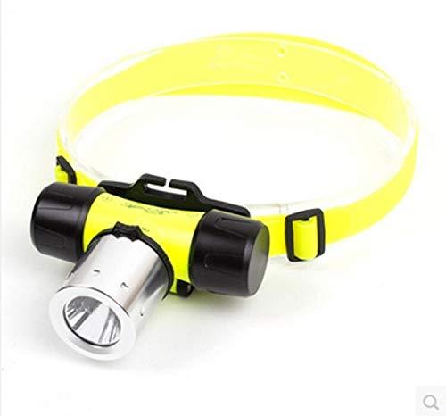 Q5 / T6 / L2 Tauchen Blendung Scheinwerfer-Ladelangstrecken-wasserdichte Taschenlampe Unter Weißlicht-LED-Scheinwerfer 18650 LED StirnlampeWasserdichte Stirnlampe (Color : Diving headlight)