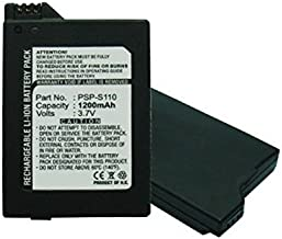 MPF Products 1200mAh PSP-S110 PSPS110 Battery Replacement Compatible with Sony PSP Slim Portable Playstation PSP-2000 PSP-2001 PSP-2002 PSP-3000 PSP-3001 PSP-3002 PSP-3004