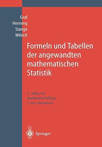 Formeln und Tabellen der angewandten mathematischen Statistik (German Edition)の詳細を見る