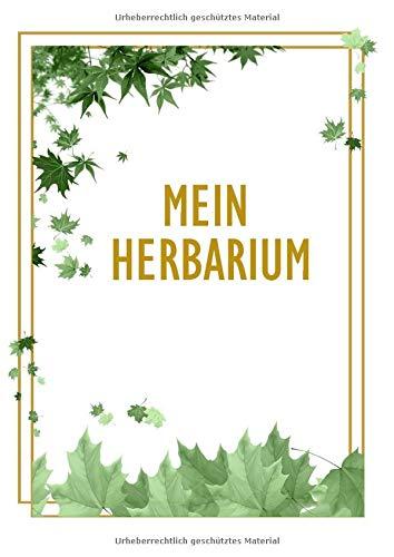 Mein Herbarium: Herbarium Leer A4 - Pflanzen Sammeln, Bestimmen, Aufbewahren - 110 Seiten Papier Weiß Gepunktete - Pflanzenbestimmung