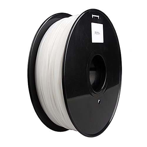 3D Printer Filament 1.75mm, PMMA Acrylic Material, White Pure and Transparent, High-transmittance Glass Optical Lens-White
