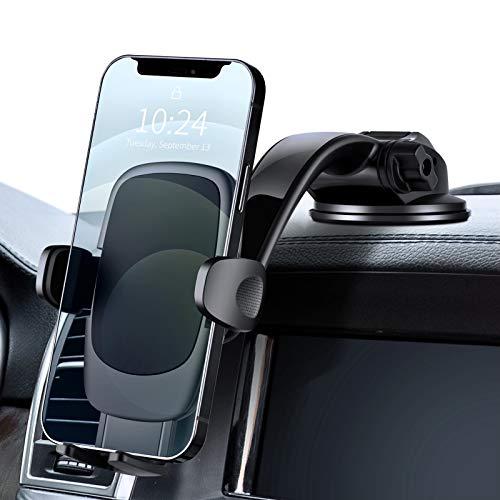 Eono by Amazon - Porta Cellulare da Auto, Supporto Telefono Auto Cruscotto Parabrezza 360° Rotazione, Accessori Auto per Cellulare, Auto Universale per iPhone Samsung Xiaomi Huawei e GPS Dispositivi