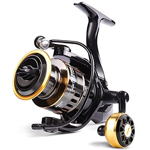 GvvcH Carrete de Pesca Spinning Serie 1000-7000 Rueda Giratoria de Carrete de Metal para Pesca en el Mar Pesca de Carpa,HE-2000