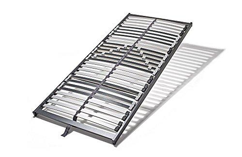 shogazi Schlafkultur 7 Zonen Lattenrost WoodLine Basic IPNOverde S, 5cm hoch, 28 Buche-Federleisten, Schulterkomfortzone und einstellbarer Beckenbereich, Größe:120x200